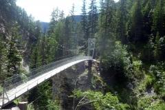 die neue Stahlbrücke über die La Brancia (2016)