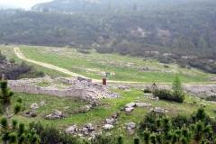 Die Reste der Stellung am Bocchetta Pordule
