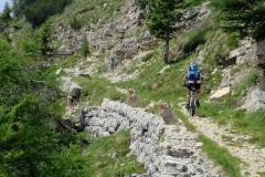 Abfahrt vom Monte Maggio - noch ist der Weg breit