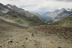 Abstieg /Abfahrt vom Passo Zebru in Richtung Bormio