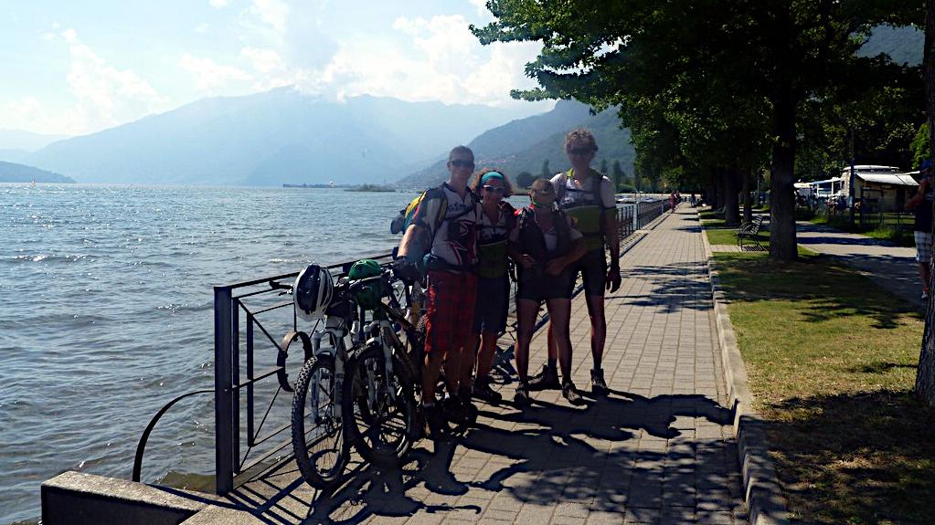 Am Comer See angekommen -Transalp vom Bodensee zum Comer See