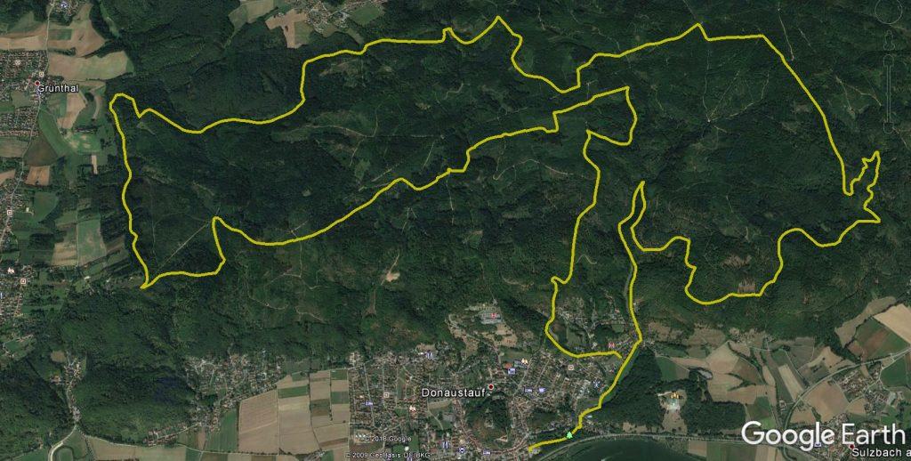 Tourverlauf auf Google Earth