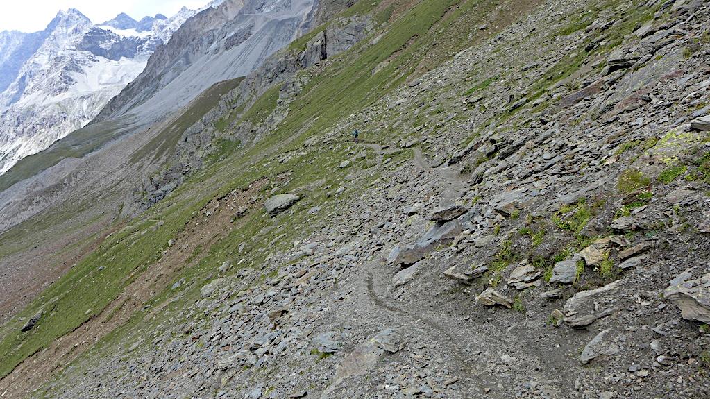 Abfahrt vom Passo Zebru in Richtung Bormio