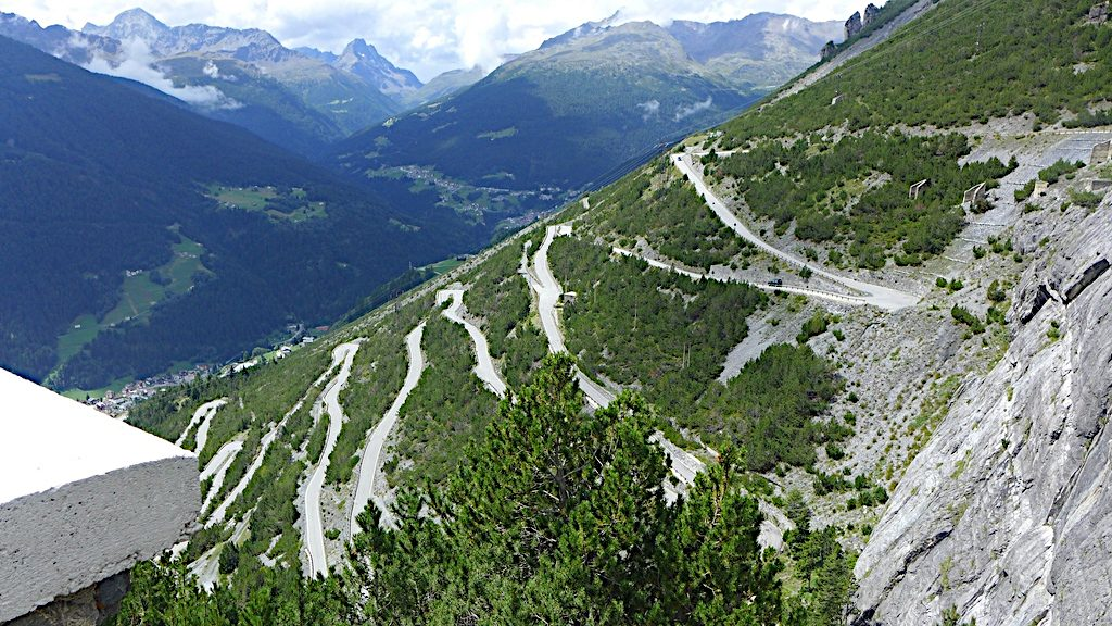 Serpentinenstraße zum Passo di Fraele