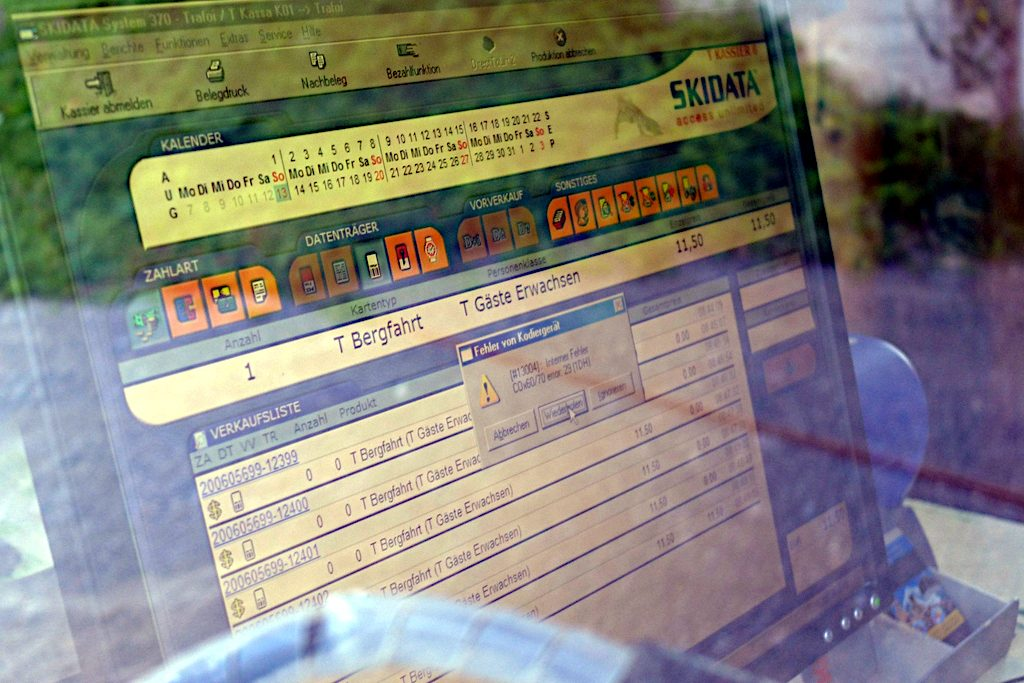 Fehleranzeige am Fahrkartenautomat
