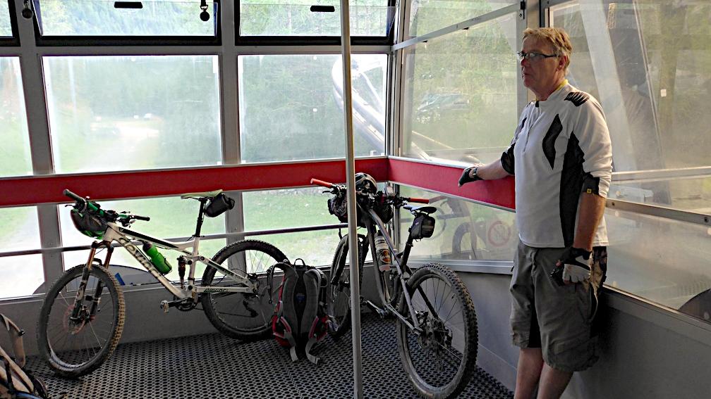 Die letzte Seilbahn Fahrt des Tages zur Adolf- Schaubach-Hütte