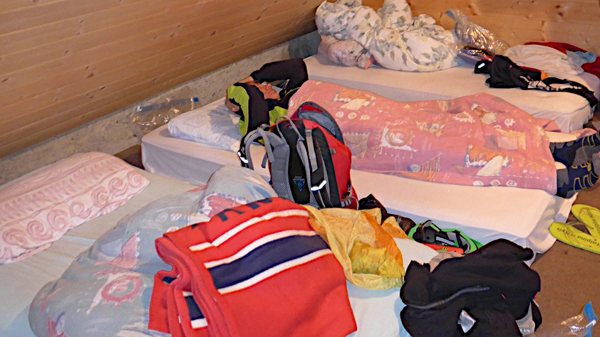 Schlafplätze im Lager