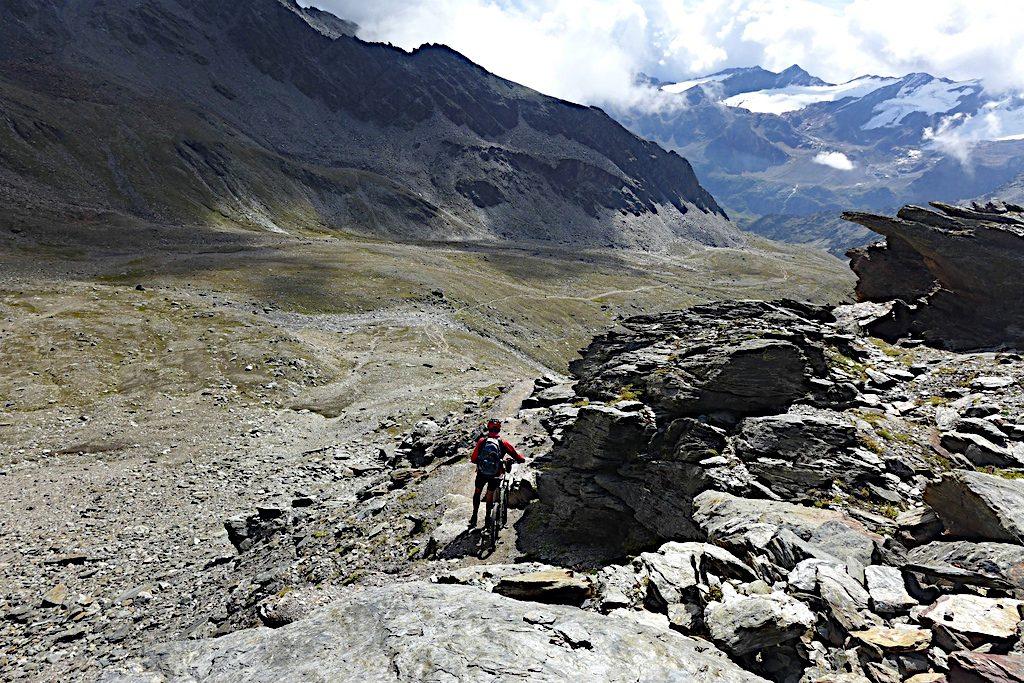 Abstieg vom Madritschjoch