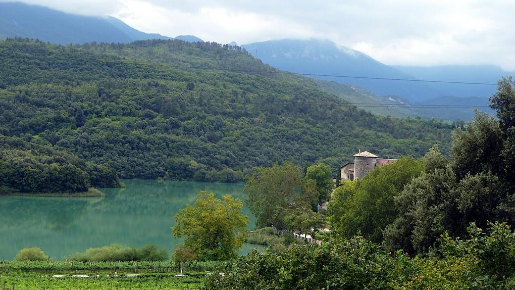 Blick auf den Lago di Toblino