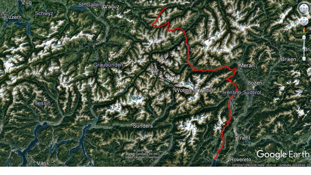 Der Tourverlauf einer Alpenüberquerung für Einsteiger