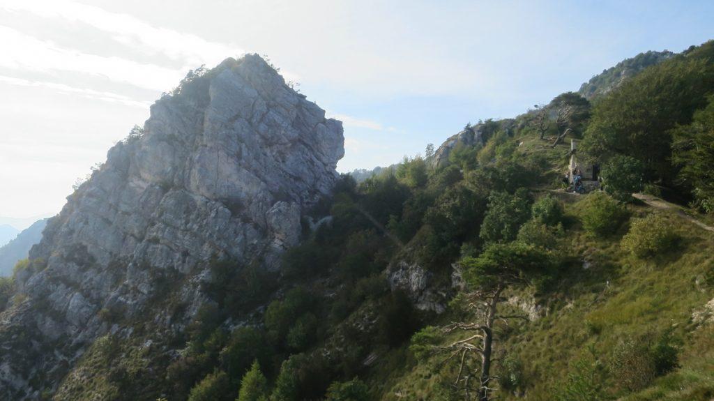 Ein Ausschnitt aus den Gardaseebergen, der Passo Rocchetta.