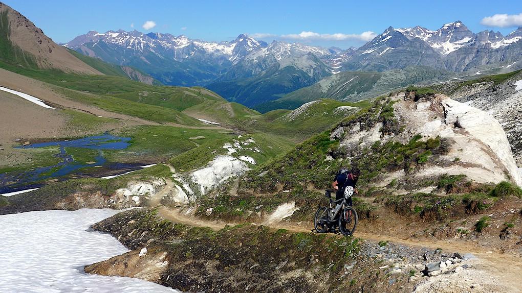 Die letzten Meter zum Saflischpass bei unserem Schweizcross