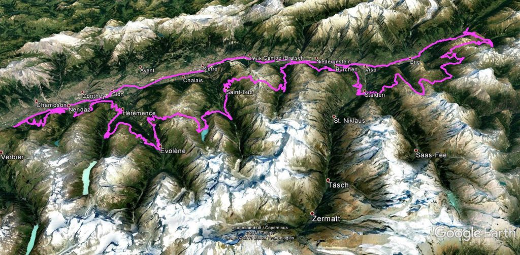 der Tourverlauf des Schweizcross